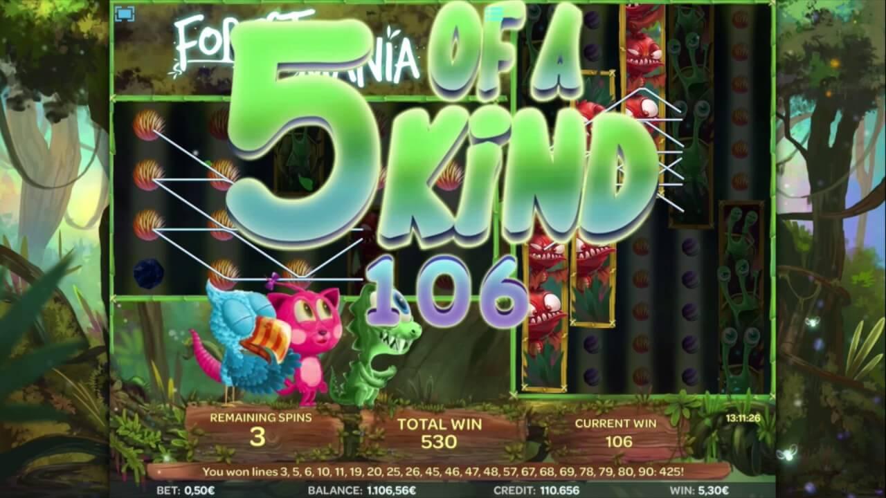 Forest Mania Slot Bonus