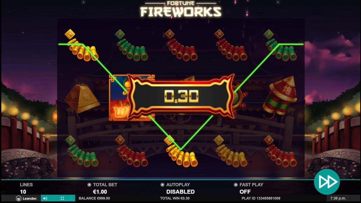 Fortune Fireworks Slot Bonus