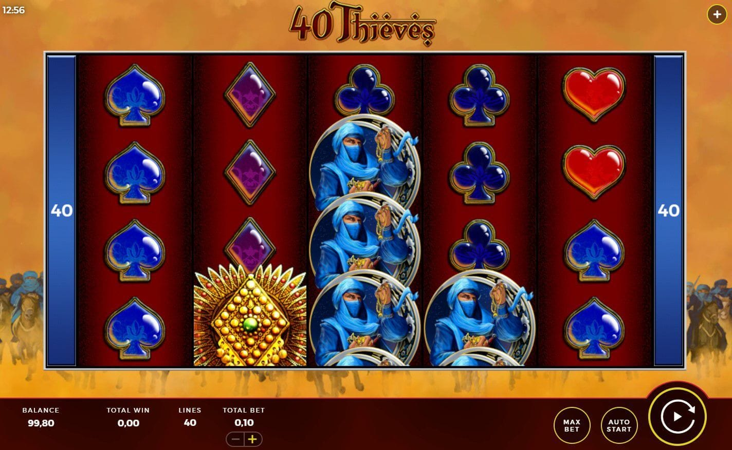 Forty Thieves Slot Gameplay