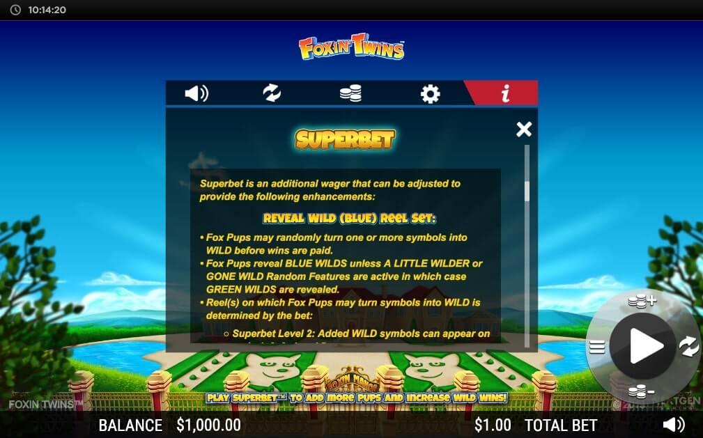 Foxin Twins Slot Bonus