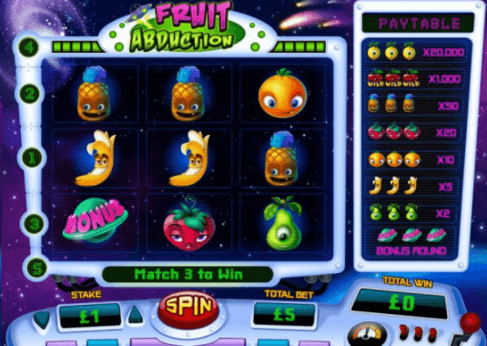 Fruit Abduction Slot Gameplay