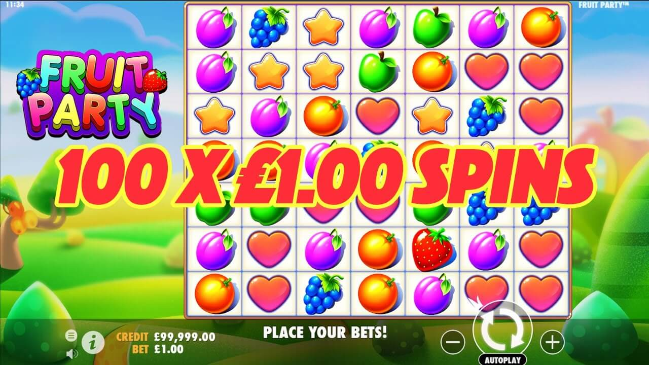 Fruit Party Slot Gameplay