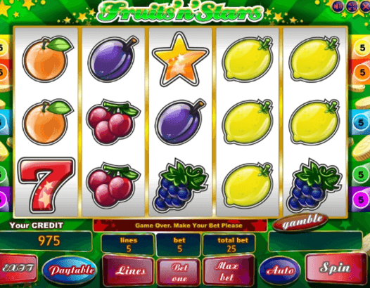 FruitsNStars Slot Gameplay