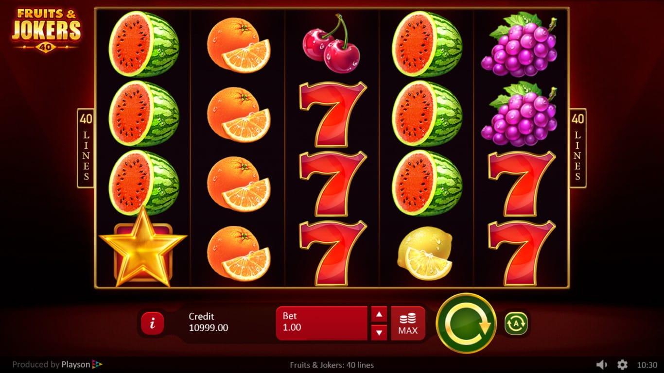 Fruits and Jokers 40 Lines Bonus
