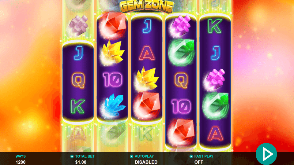 Gem Zone Slot Gameplay