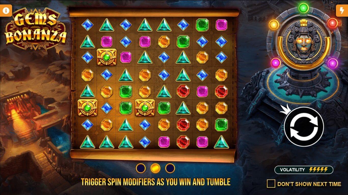 Gems Bonanza Slot Gameplay