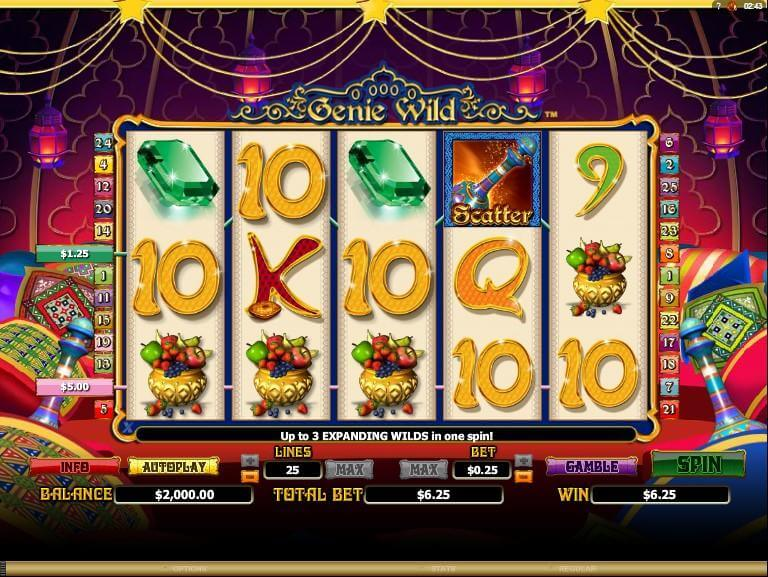 Genie Wild Slot Gameplay