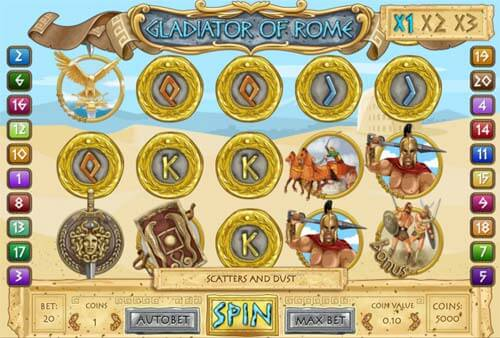 Gladiator of Rome Slot Bonus
