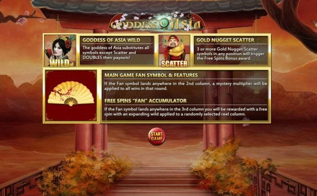 Goddess of Asia Slot Bonus