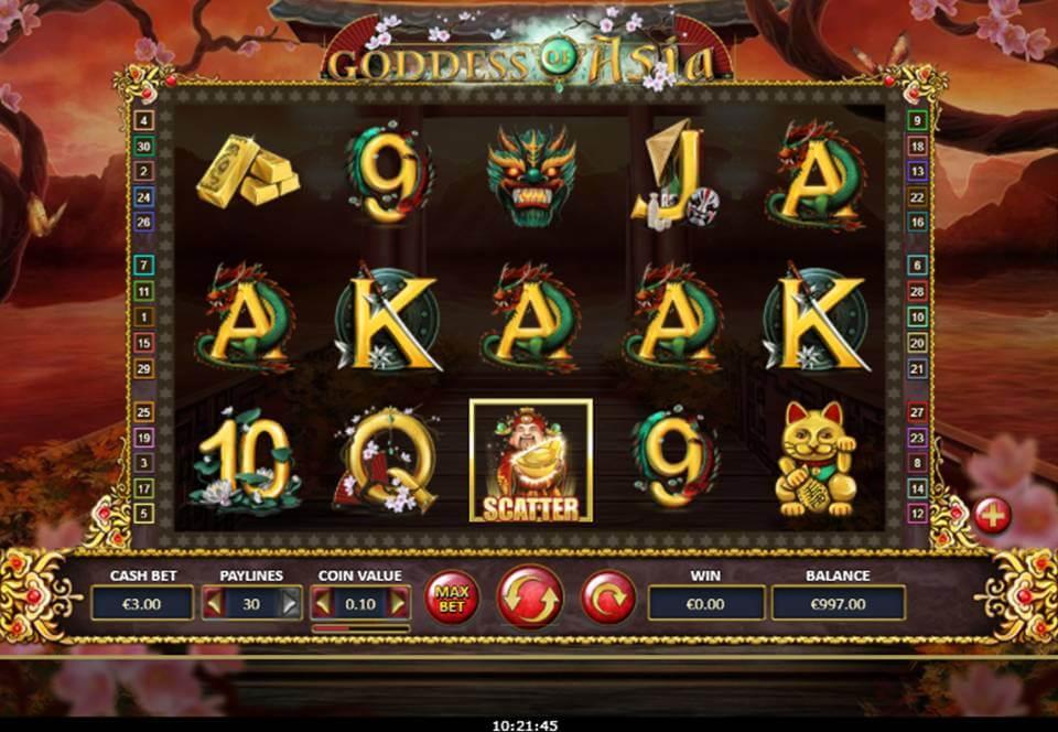 Goddess of Asia Slot Gameplay