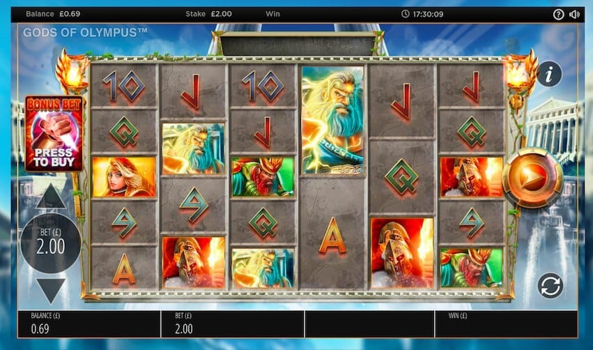 Gods of Olympus Megaways Gameplay