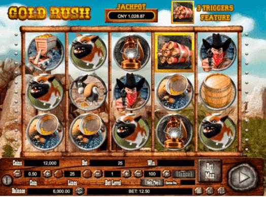 Gold Rush Slot Gameplay