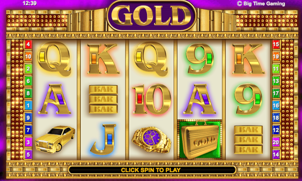 Gold Slot Gameplay