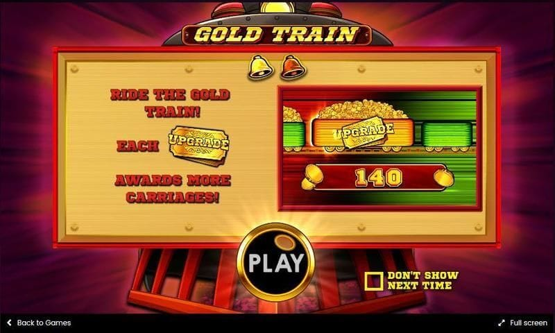 Gold Train Slot Bonus