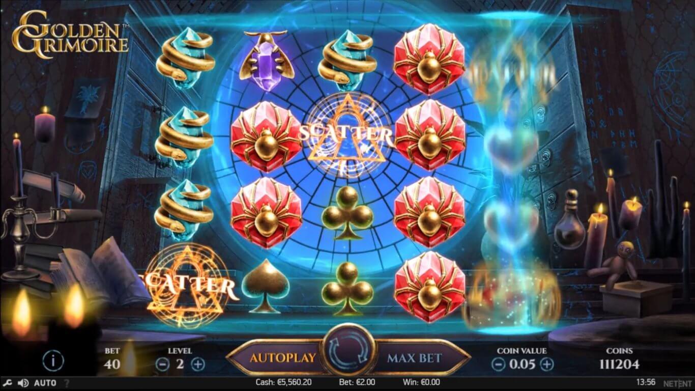 Golden Grimoire Slot Bonus