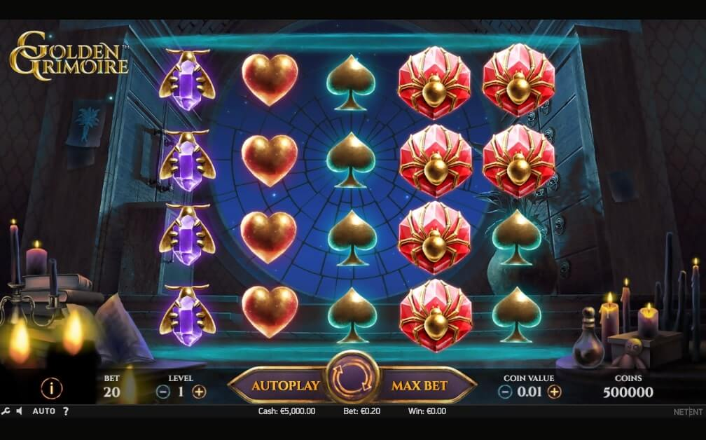 Golden Grimoire Slot Gameplay