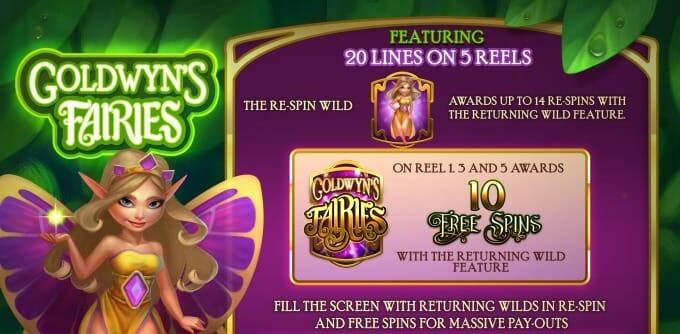 Goldwyns Fairies Slot Bonus