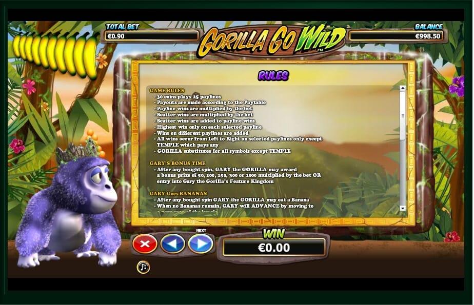 Gorilla Go Wild Slot Bonus