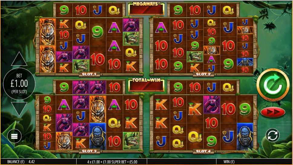 Gorilla Gold Megaways Slot Gameplay