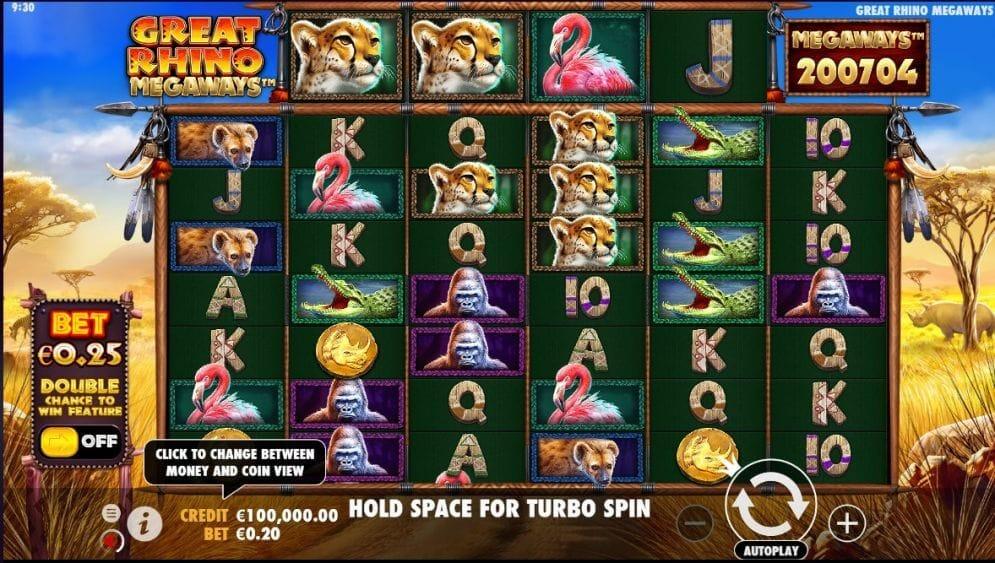 Great Rhino Megaways Slot Gameplay