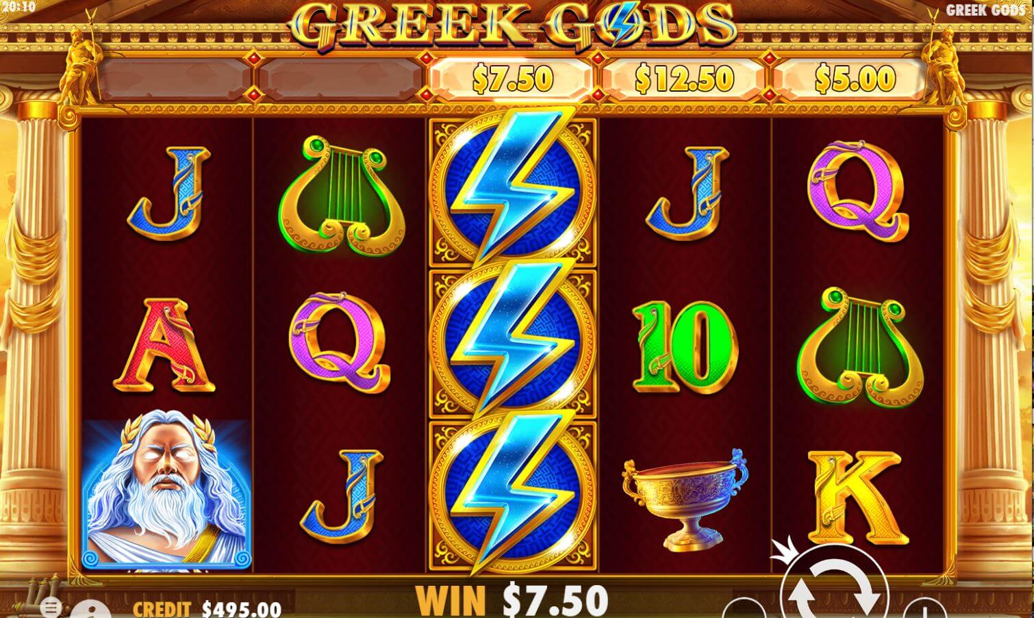 Greek Gods Slot Bonus