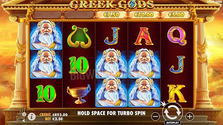 Greek Gods Slot Gameplay
