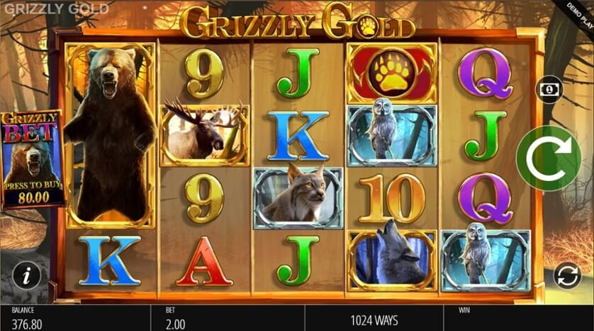Grizzly Gold Slot Gameplay