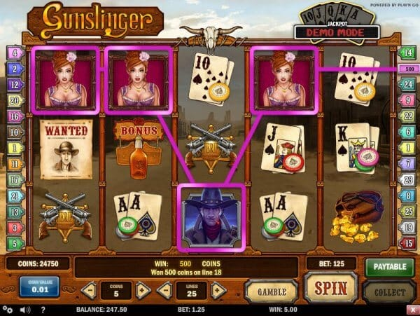 Gunslinger Slot Bonus