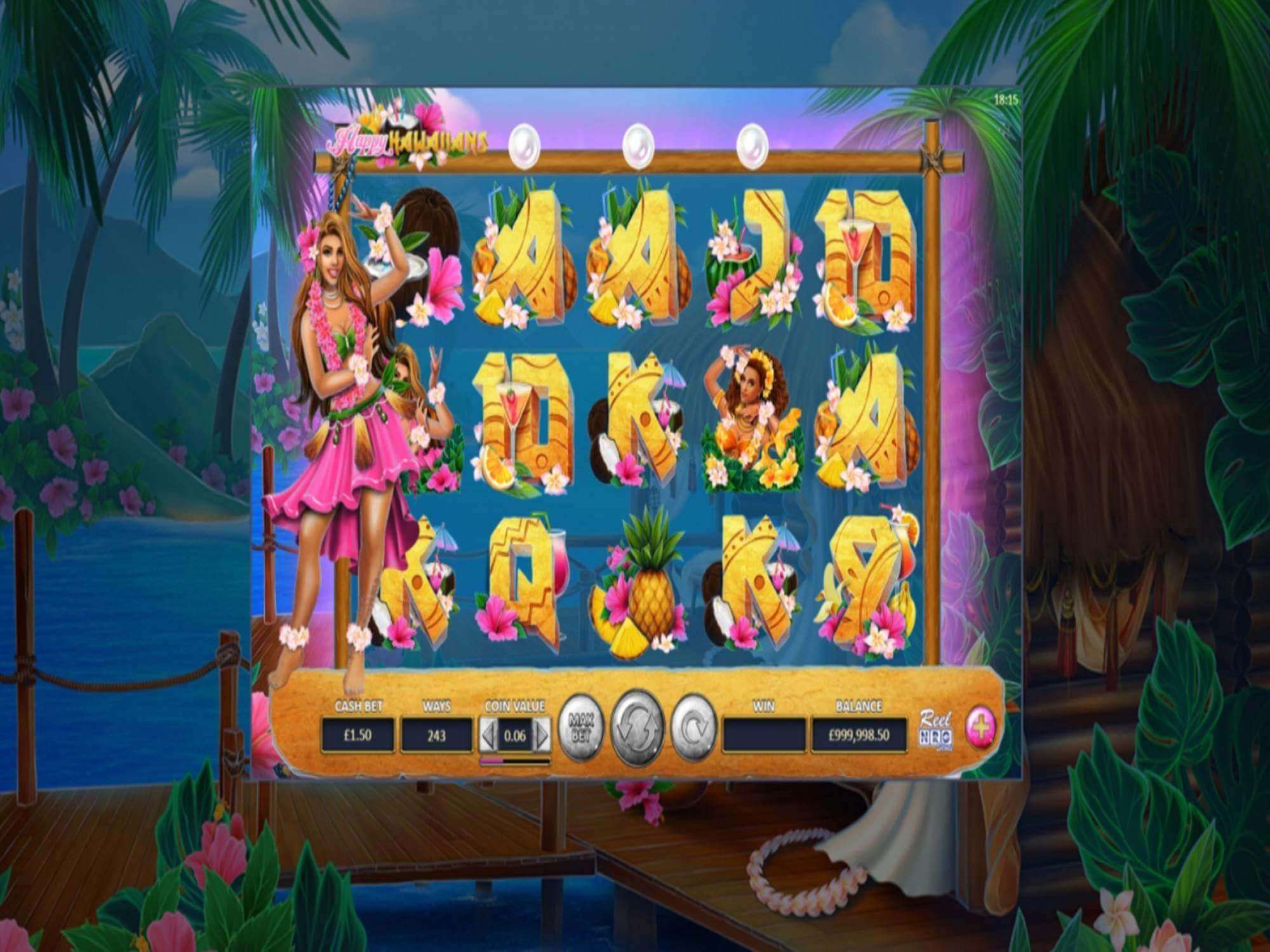 Happy Hawaiians Slot Gameplay