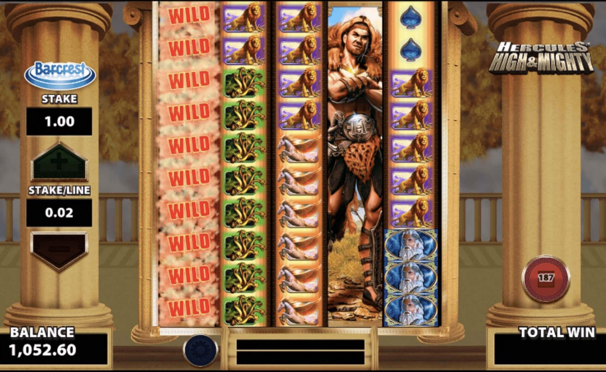 Hercules High and Mighty Slot Bonus