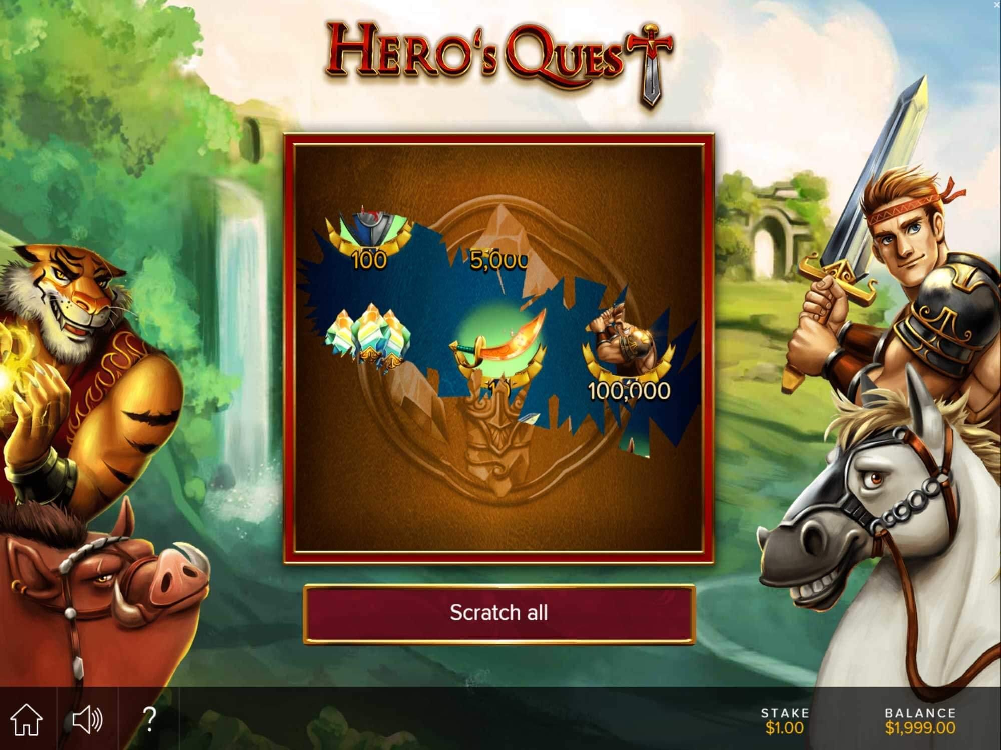Heroes Quest Slot Bonus