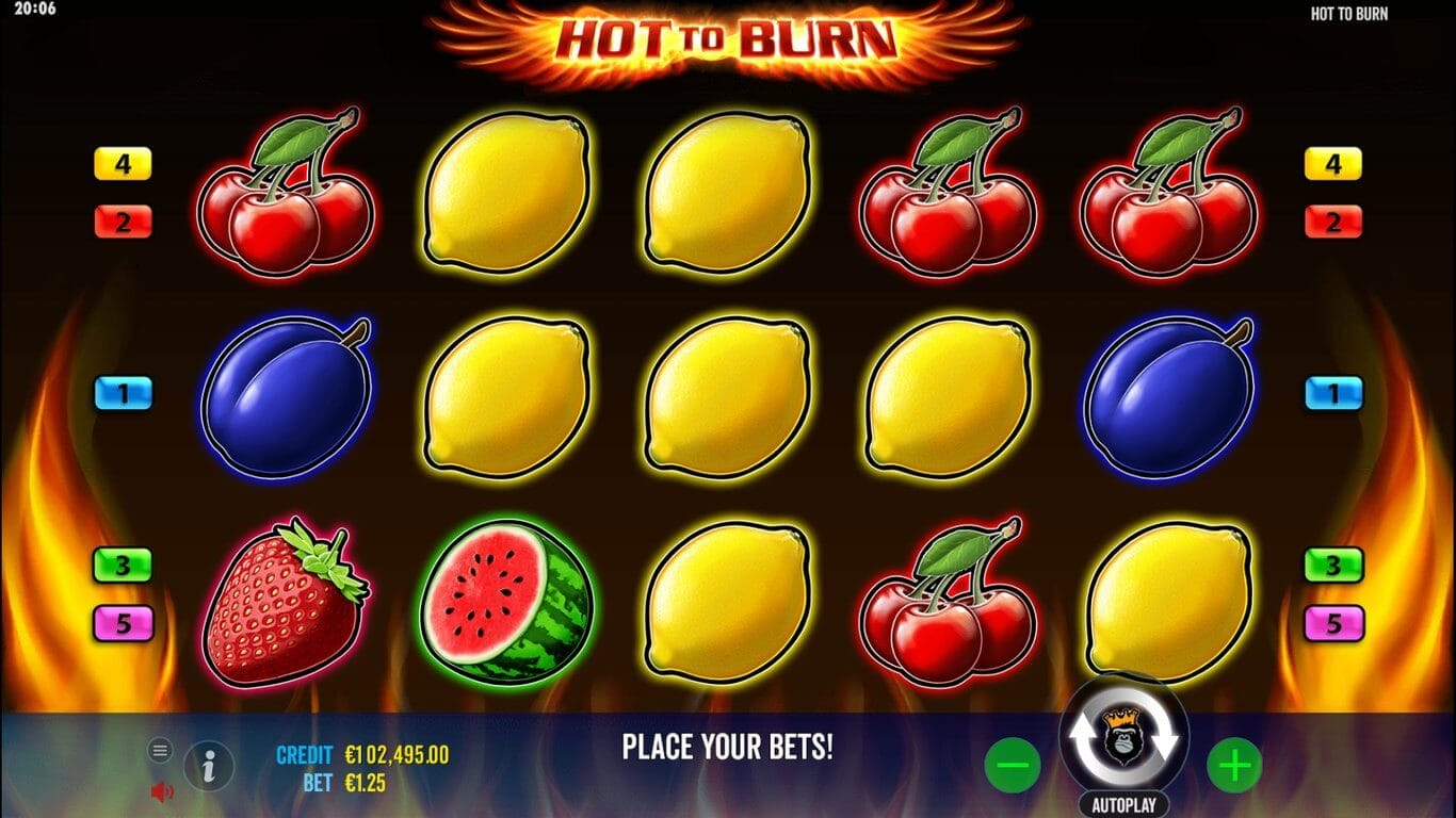 Hot to Burn Slot Gameplay