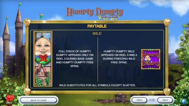 Humpty Dumpty Wild Riches Slot Bonus