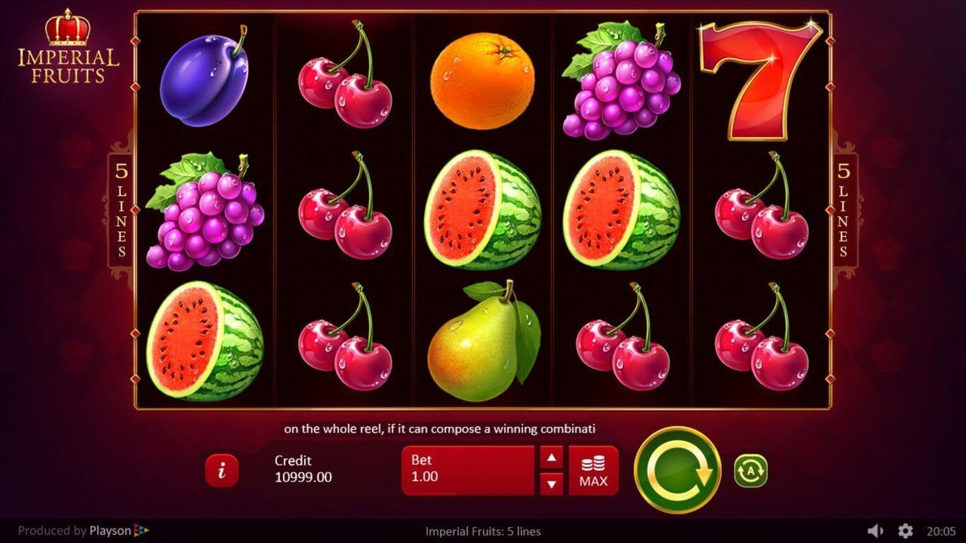 Imperial Fruits Slot Bonus