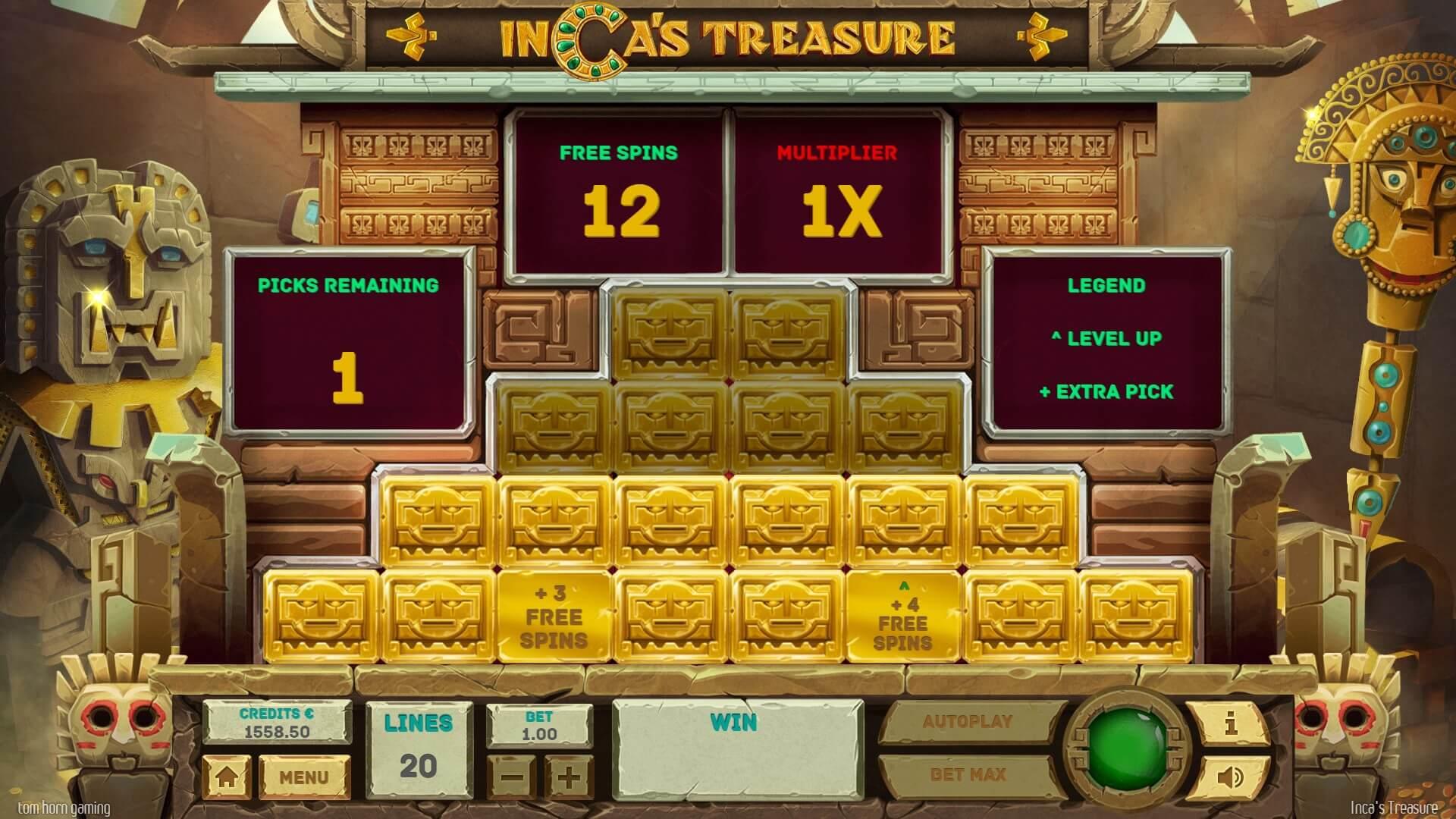 Inca's Treasure Slot Bonus