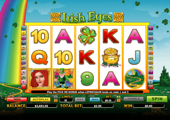 Irish Eyes Slot Gameplay