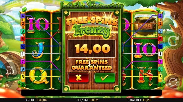 Irish Frenzy Slot Bonus