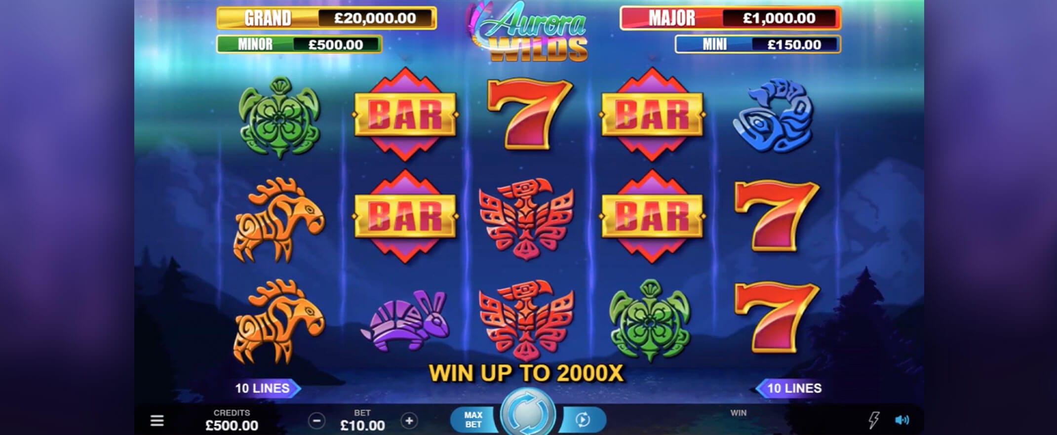 Aurora Wilds casino gameplay