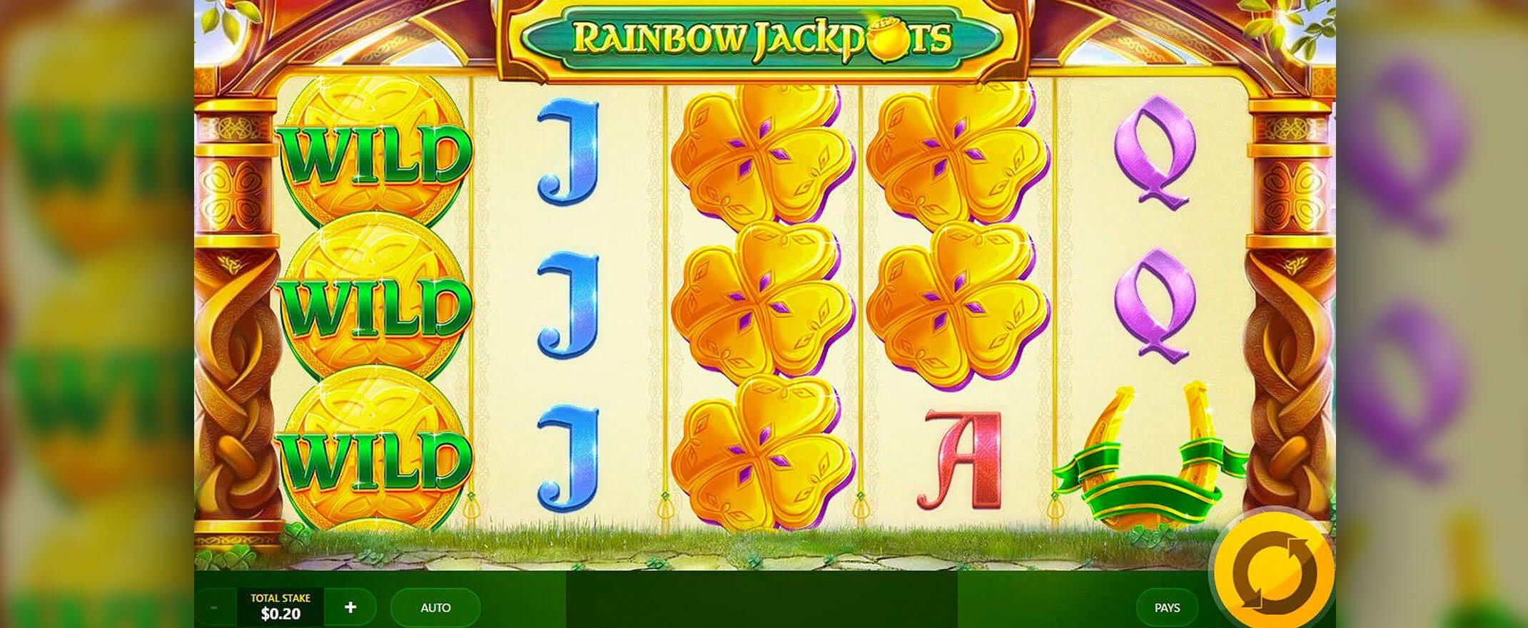 Rainbow Jackpots Slot Wild