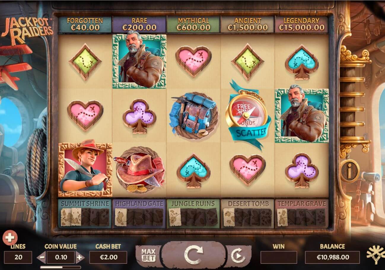 Jackpot Raiders Slot Gameplay