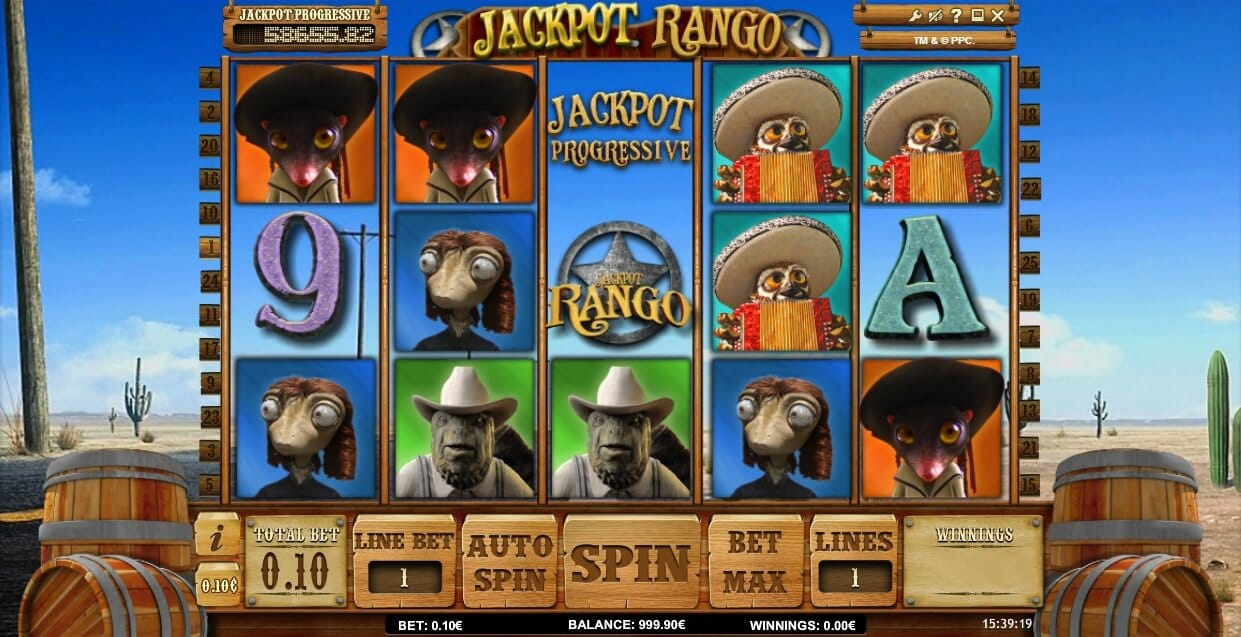 Jackpot Rango Slot Gameplay