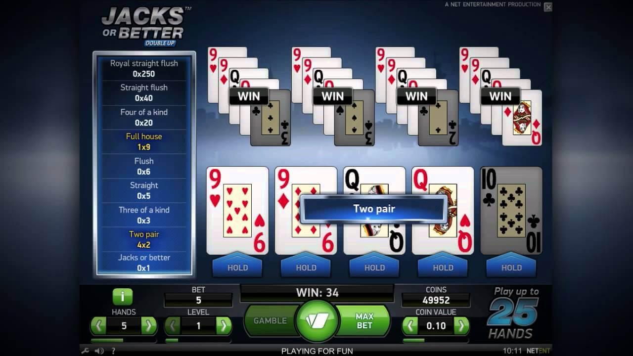 Jacks or Better Poker S Gameplay