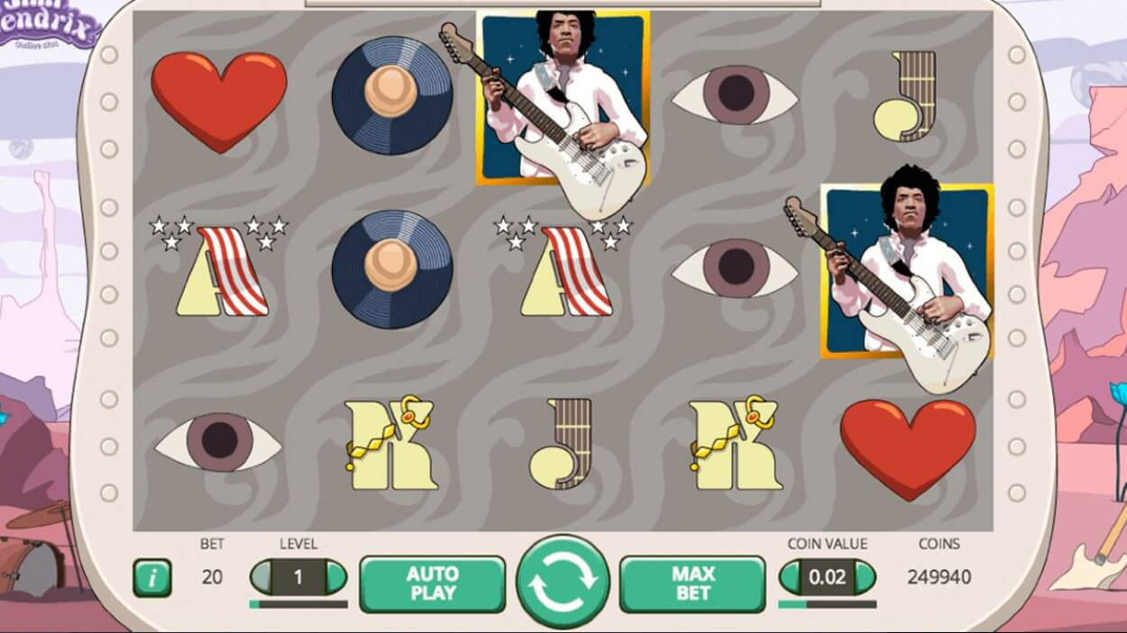 Jimi Hendrix Slot Gameplay