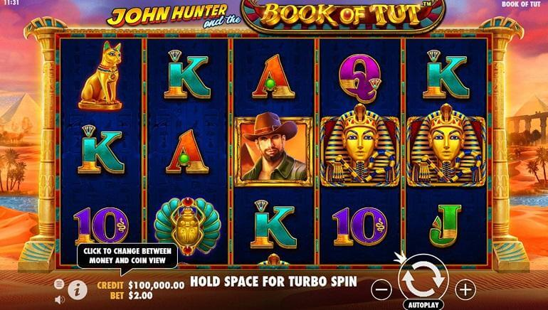 John Hunter and the Book of Tut Slot Gameplay