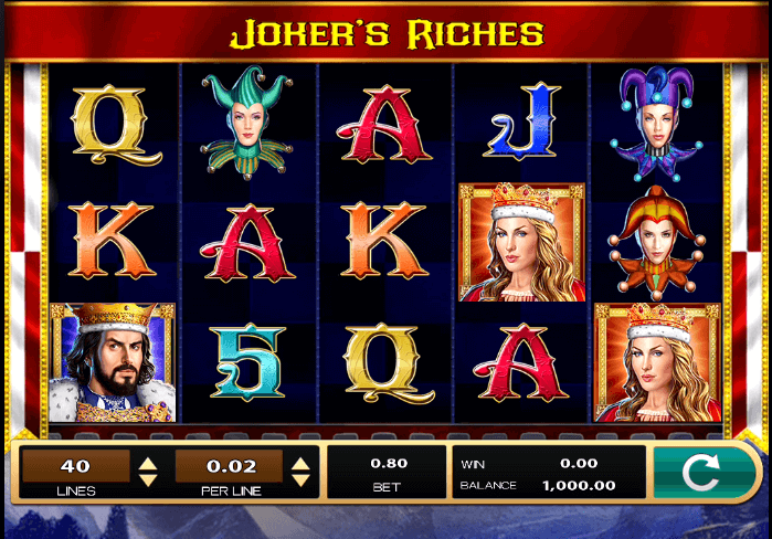 Joker's Riches Slot Bonus