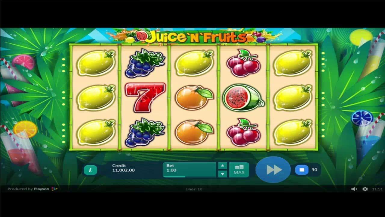 Juice N Fruits Slot Gameplay