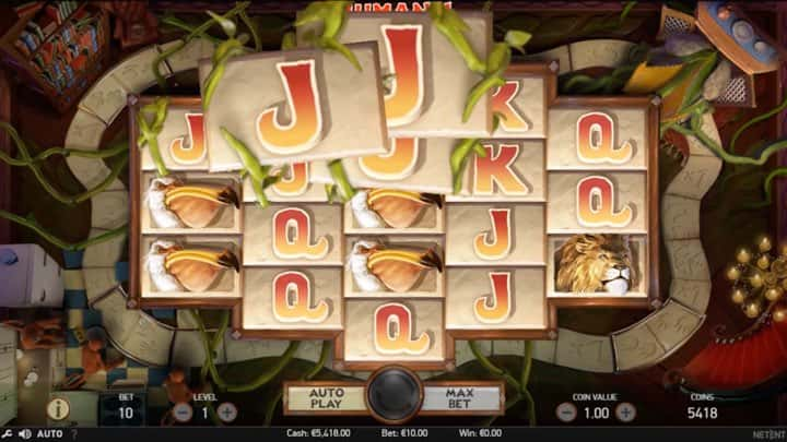 Jumanji Slot Gameplay