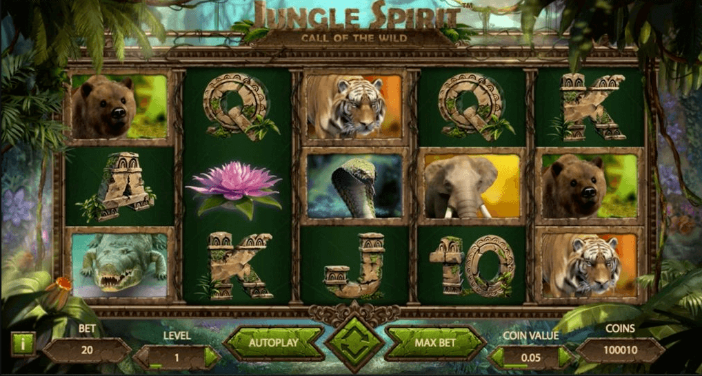 Jungle Spirit Call of the Wild Slot Gameplay