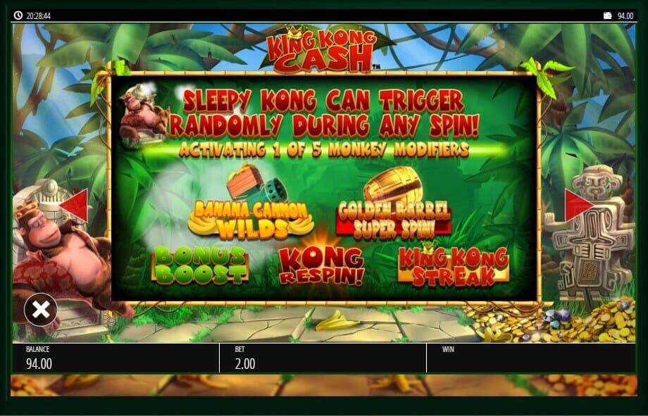 King Kong Cash Slot Bonus