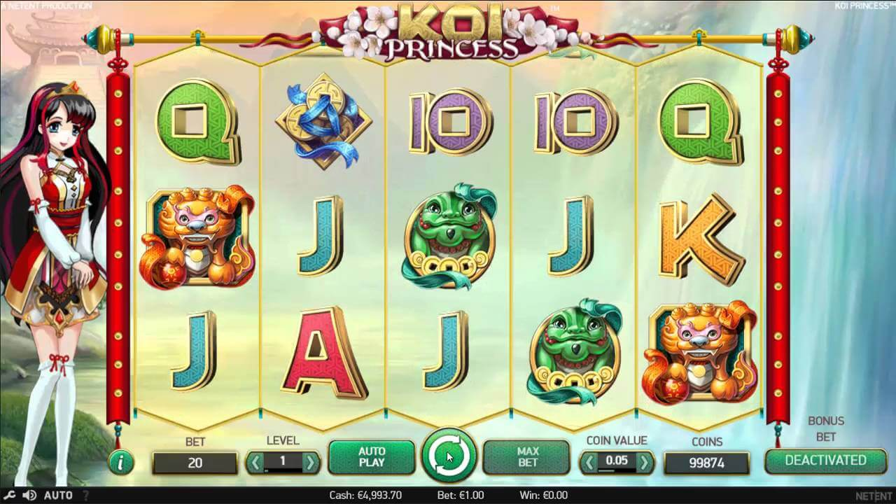 Koi Princess Slot Gameplay